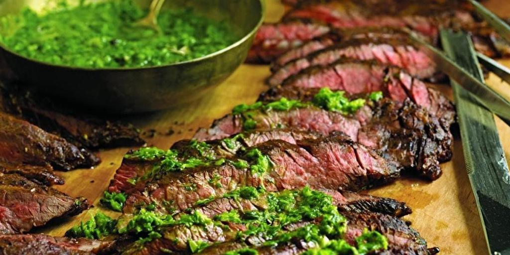 Skirt Steak with Chimichurri Sauce - No Fail Recipes