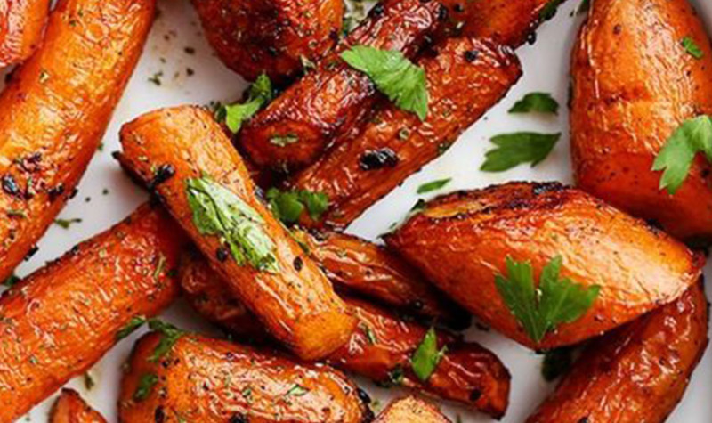 Garlic and Butter Roasted Carrots Recipe