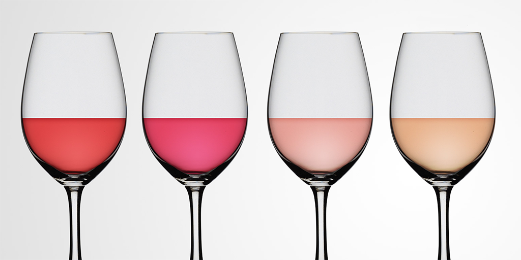 Different Shades of Rose Wine