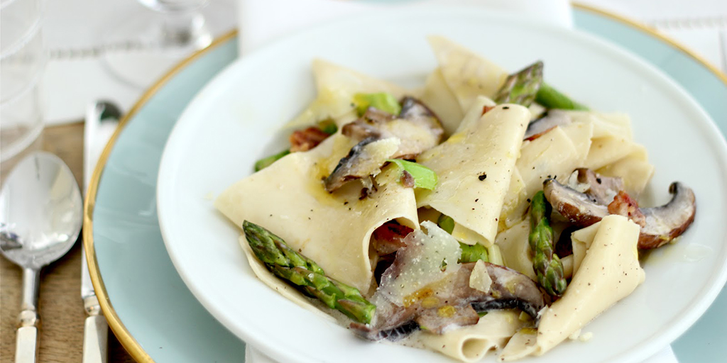 Parppardelle, Mushrooms & Asparagus
