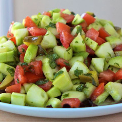 Southwestern Fusion Spicy Israeli Salad