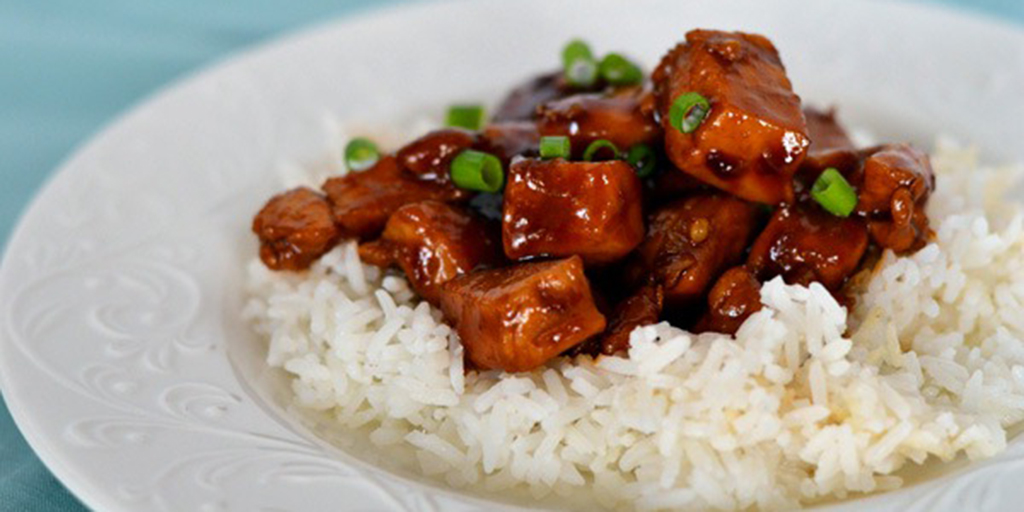 Chinese Bourbon Chicken and Rice - No Fail Recipes