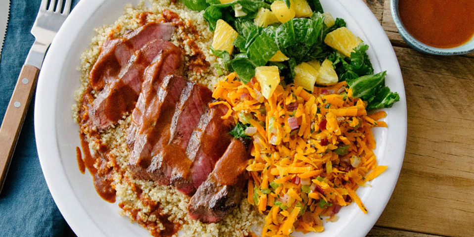 jamaican bbq sirloin steak with quinoa  no fail recipes