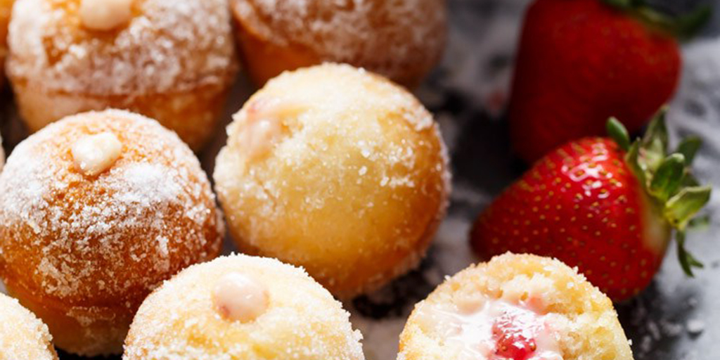 Creamy Berry Filled Donut Holes