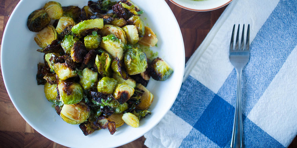 Crispy Fried Sweet & Spicy Brussels Sprouts in Garum Sauce