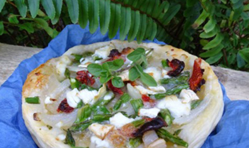 Goat Cheese and Asparagus Galette