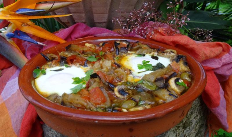 Eggplant Shakshuka with Olives and Feta